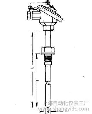 WZP-230固定螺紋防水接線盒熱電阻安裝圖片