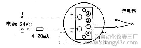 SBWR-2161智能型熱電偶溫度變送器接線圖