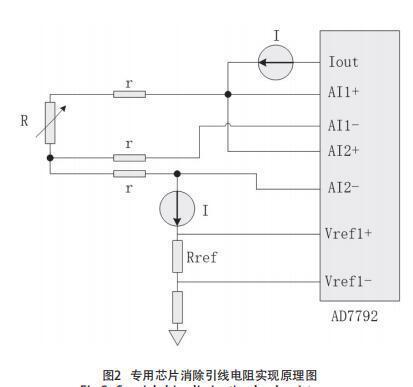 专用芯片消除引线电阻实现原理图