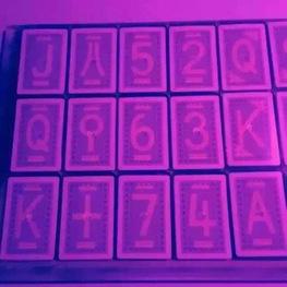 隐形记号白光扑克