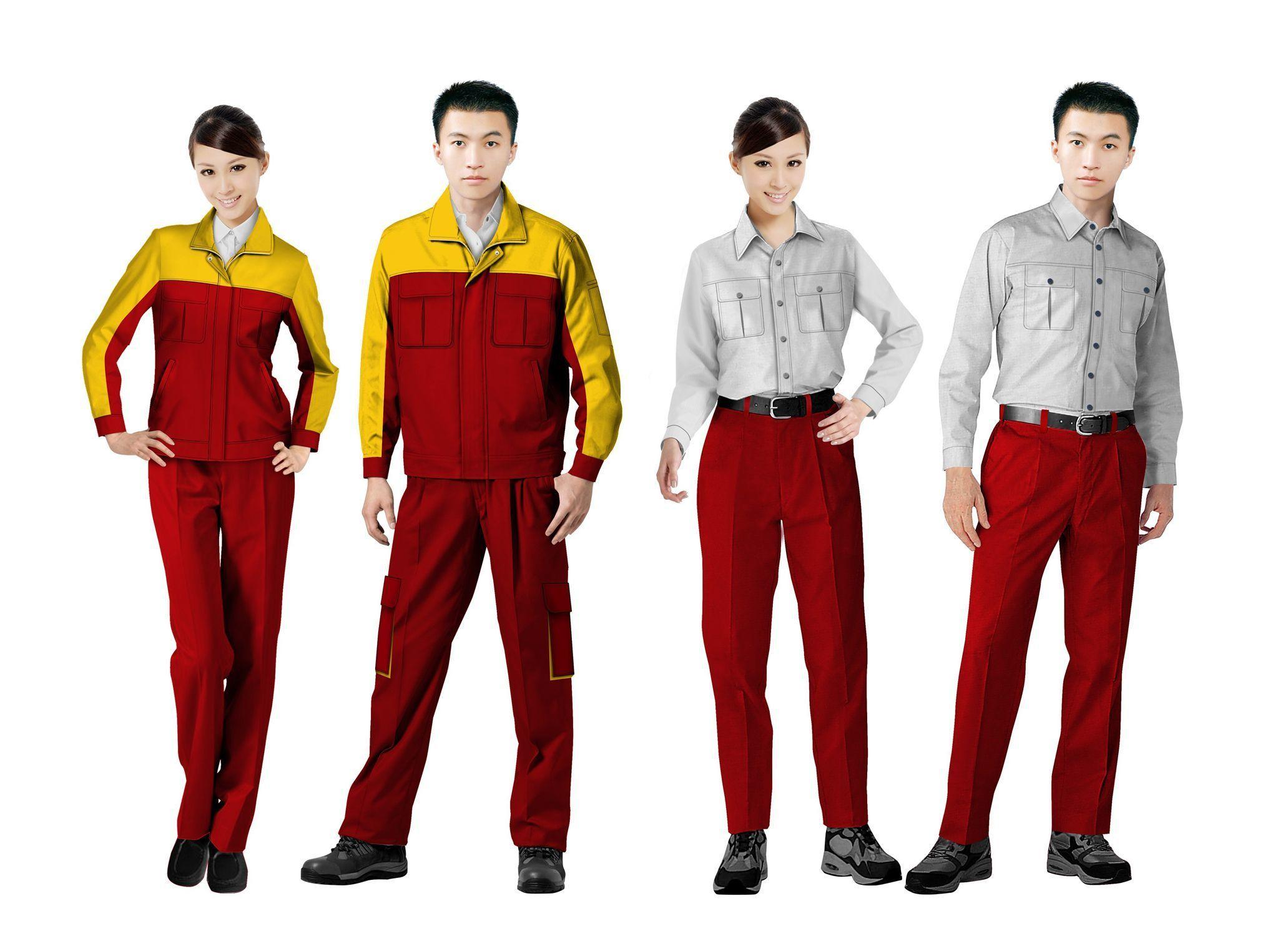 工作服设计图系列方案01