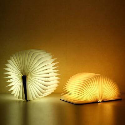 送女朋友的礼物:创意折叠书灯