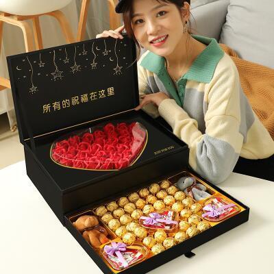 女朋友的礼物:爱心德芙巧克力礼盒