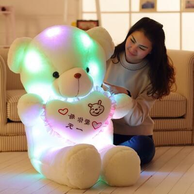 送女朋友的礼物:发光音乐泰迪熊玩偶