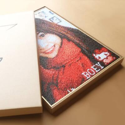 女友礼物:创意照片diy图钉画