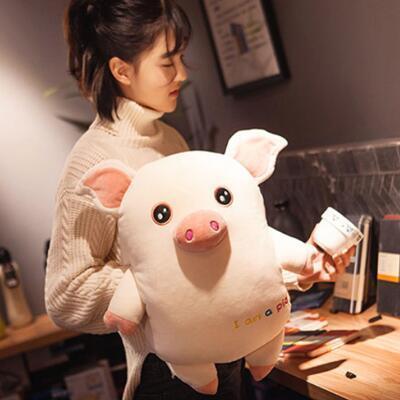 女友礼物:超萌小猪暖手抱枕