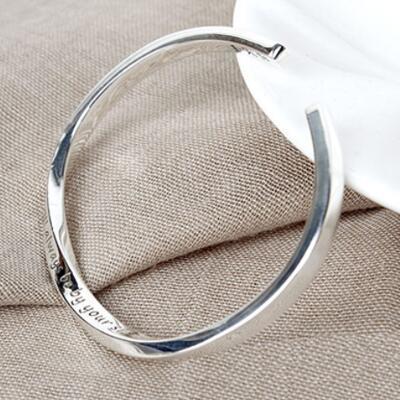 女友礼物:莫比乌斯纯银手环