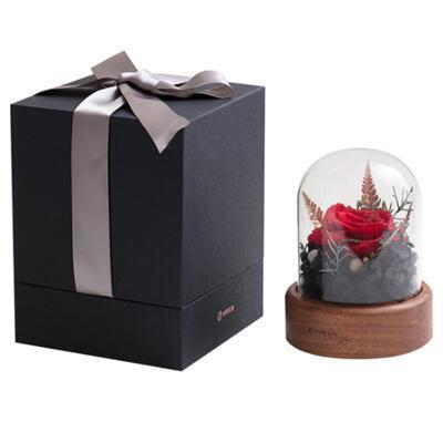 女友礼物:永生玫瑰花音乐盒