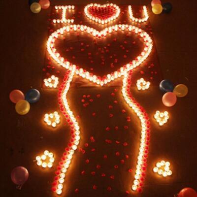 送女朋友的礼物:浪漫表白蜡烛套餐