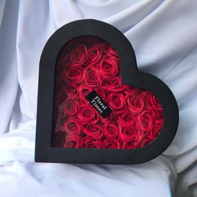 女朋友的礼物:爱心香皂玫瑰花礼盒