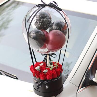 女友礼物:告白气球鲜花花束