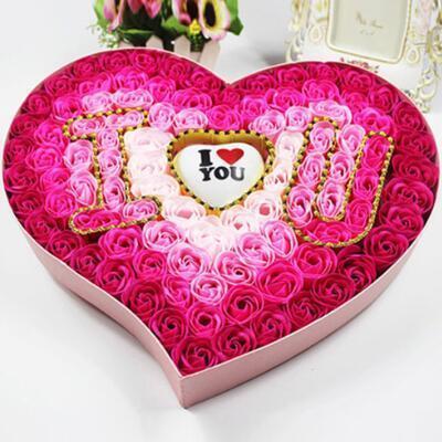 女朋友的礼物:玫瑰香皂花礼盒