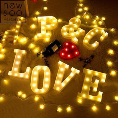 女友礼物:表白求婚英文字母灯