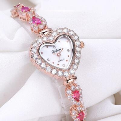 女友礼物:心形镶钻手链表