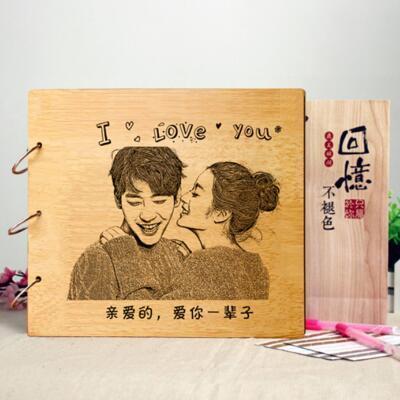 女友礼物:个性定制粘贴DIY相册