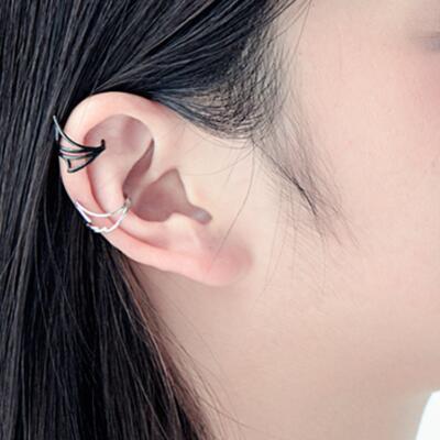 女友礼物:原创天使羽翼耳骨夹