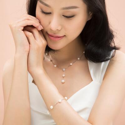 满天星珍珠项链