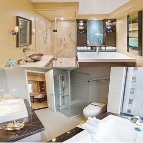 卫生间玻璃隔断墙案例