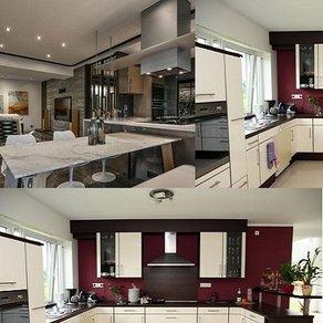 成都开放式厨房玻璃隔断装修案例