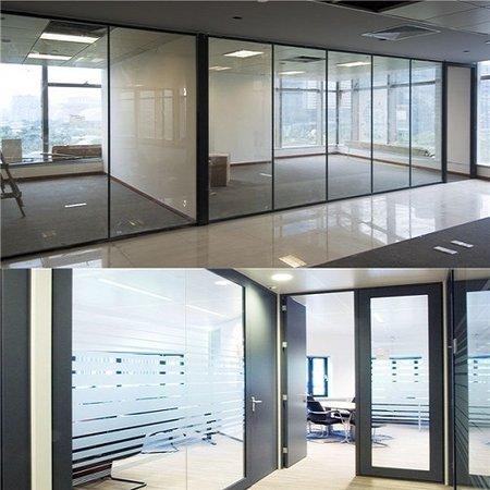 成都天歌大厦办公室玻璃隔断案例
