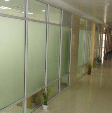 双层磨砂玻璃隔断