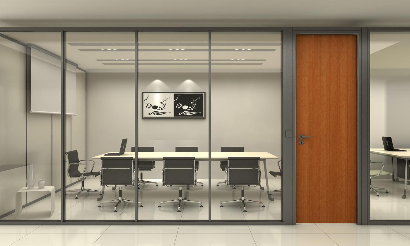 成都办公玻璃隔断厂家认准成都大名装饰高隔间