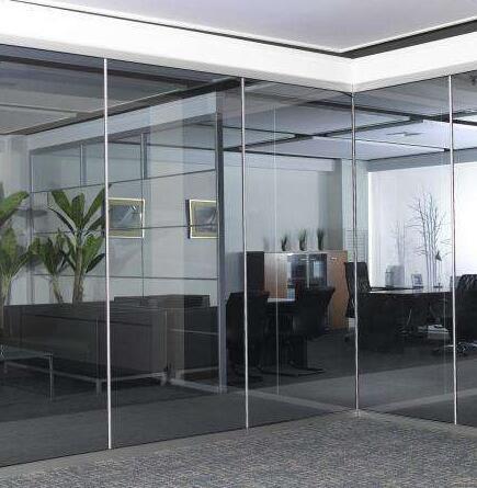 双层条纹玻璃隔断