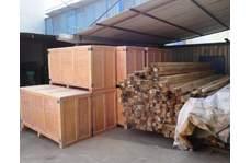 木包装箱车间一角