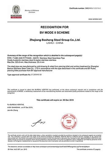 BV法國船級社認證