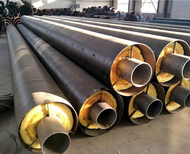 钢套钢地埋防腐岩棉保温钢管厂家