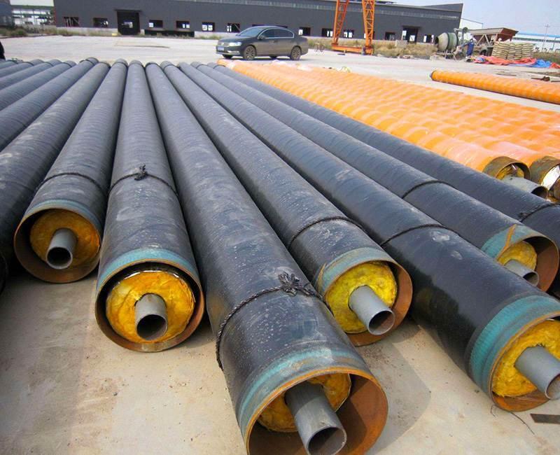 热力直埋钢套钢蒸汽岩棉保温管道