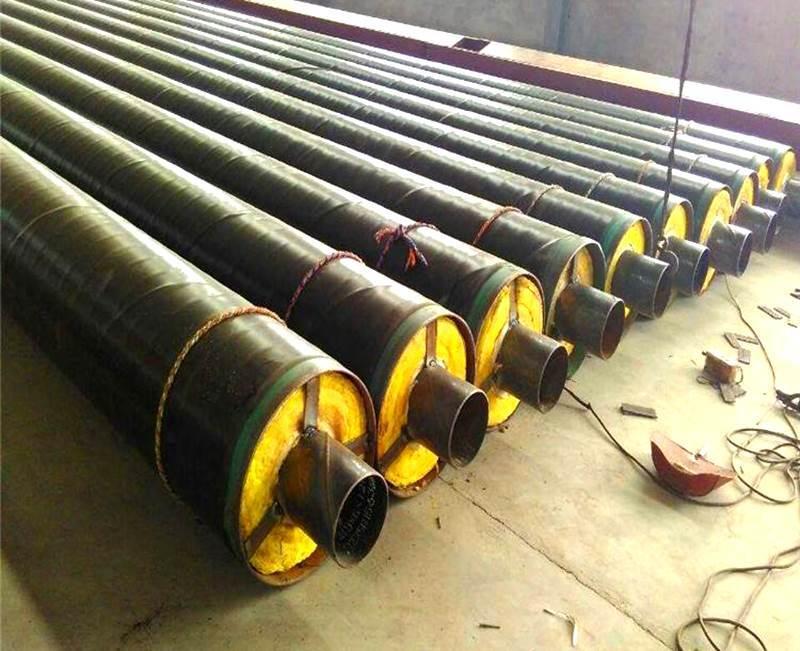 河北蒸汽钢套钢玻璃岩棉保温钢管