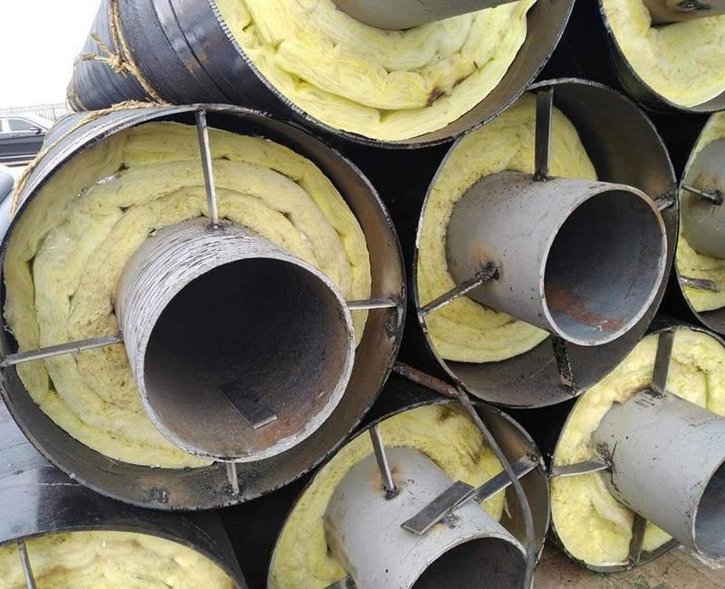 预制直埋钢套钢蒸汽保温钢管