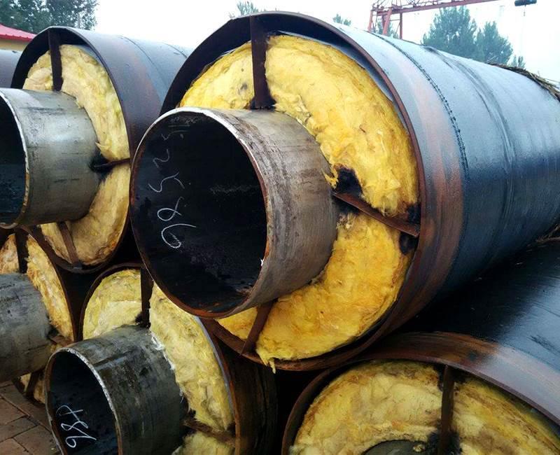 钢套钢岩棉蒸汽保温钢管