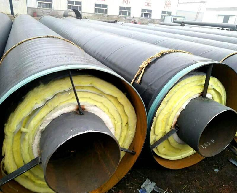 河北预制直埋钢套钢保温钢管价格