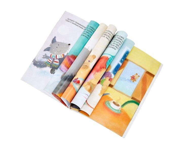 胶印绘本故事书双铜纸胶印绘本胶装线装故事书