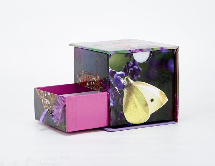便签礼盒精装双层礼品盒精细对位印刷手工盒