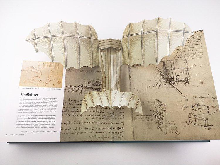 艺术教育立体书达芬奇纪念立体书生产加工工厂
