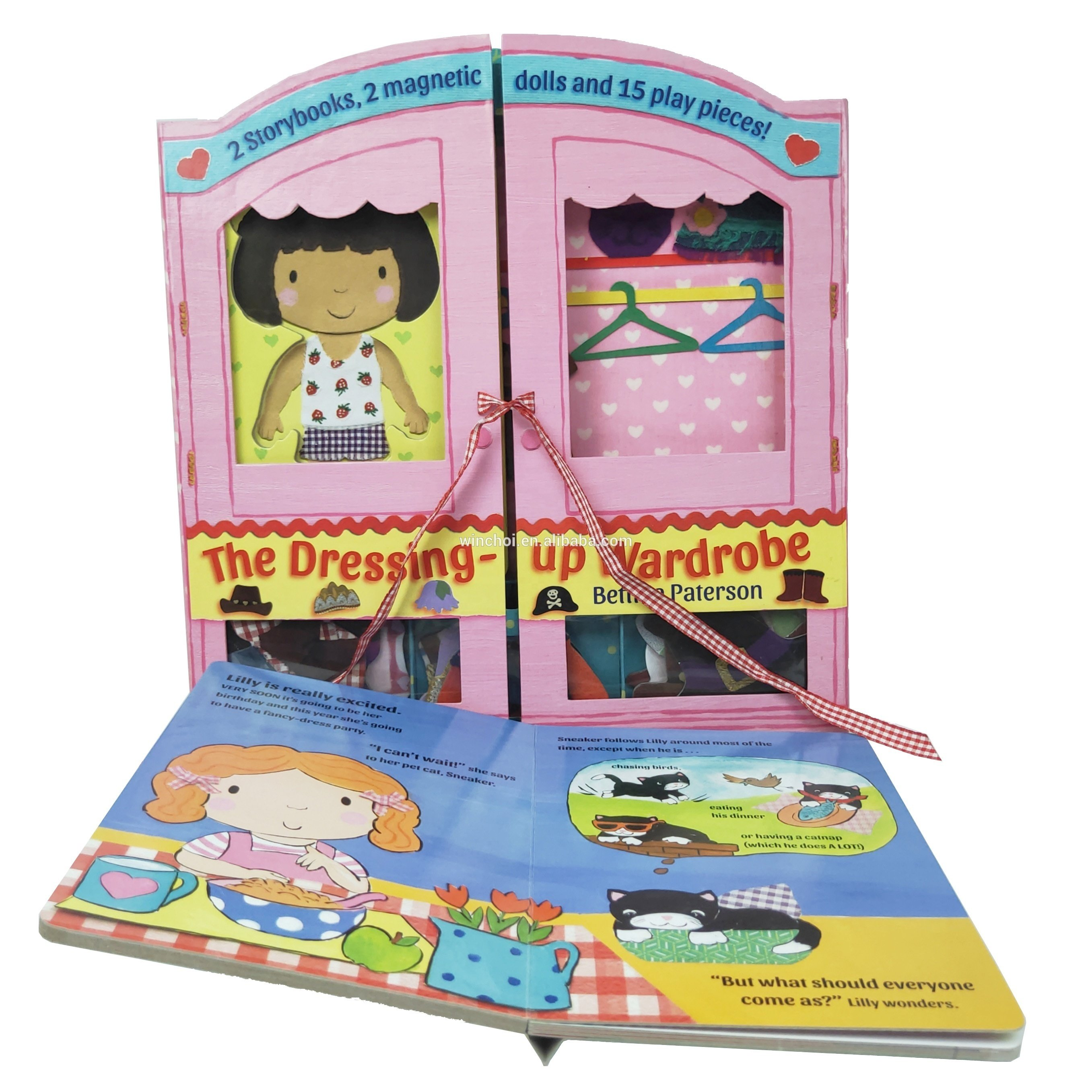 儿童换装拼图书纸板裱驳书异型模切纸板书