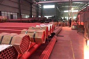 承插式涂塑钢管厂房实景