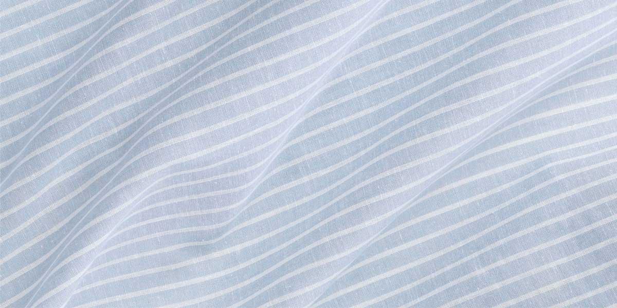 重庆衬衣定制蓝色条纹面料
