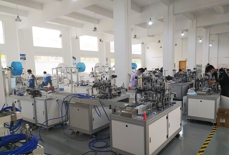 Application environment of automatic mask machine