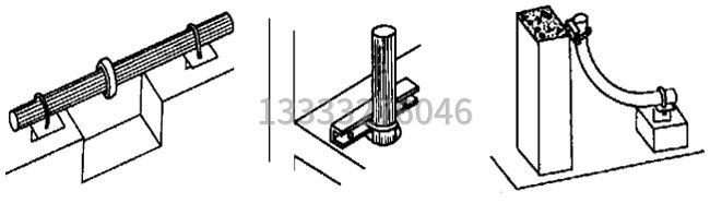 混凝土泵管的固定图片