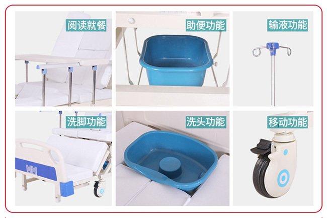 家用轮椅电动护理床的功能介绍