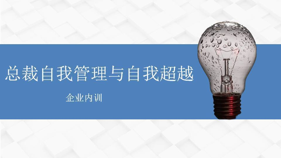 邓雨薇《总裁自我管理与自我超越》