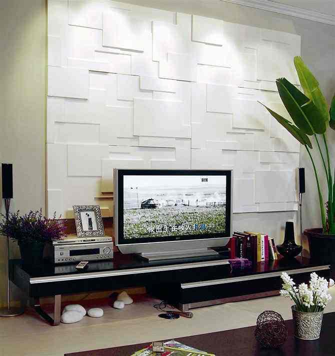 三維板裝飾您的電視背景墻