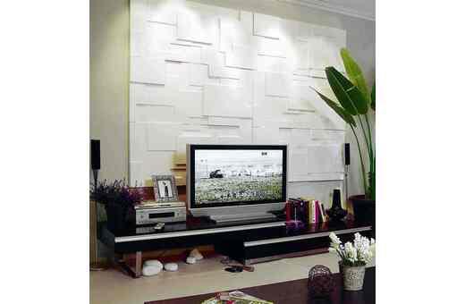 华进分享怎样用三维板装饰您的电视背景墙
