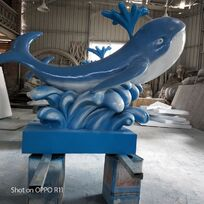 玻璃鋼彩繪雕塑7