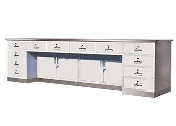 卫生室不锈钢面办公桌