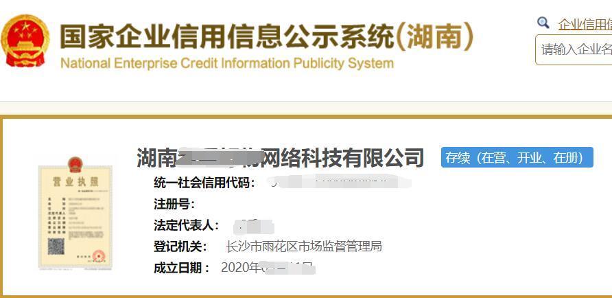 湖南XX网络科技有限公司